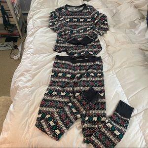 Old Navy matching pajamas set size m